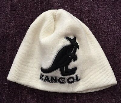 White Kangol Acrylic Pull On Cuffless Beanie Hat Youth Toddler One Size
