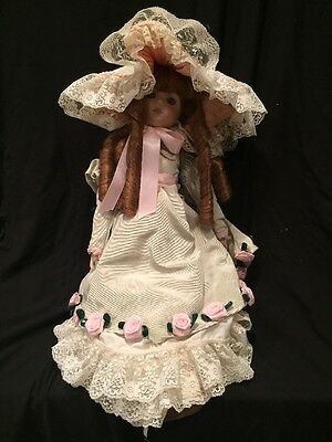 FINE BISQUE ALL PORCELAIN DOLL BY Aaria Ostel(?) Signed 1991 343/500