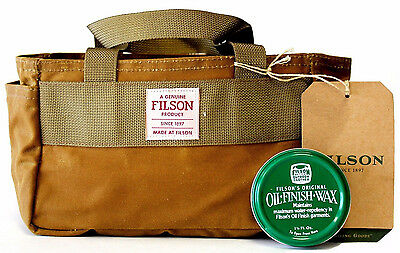 New! Filson Shot Shell Bag ~ Tan #70113 ~ With Oil Finish Wax - Expedited Ship!