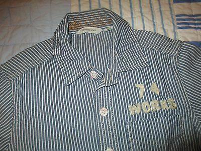 Country Road blue white stripe long sleeve shirt (size 3)