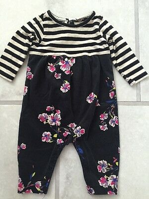 TEA COLLECTION Stripe Floral Print One Piece Outfit Romper 0 3 mo