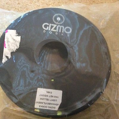 Gizmo Dorks 2.85MM ABS Filament 2.2LB 3D Printers Light Yellow C49A New