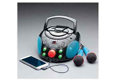 Karaoke Machine Microphone System CD Player Portable New Home Singing Party Mic