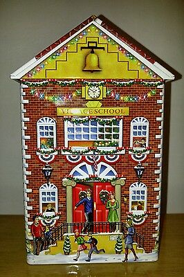 Harry London Village School  Embossed Candy Tin Empty Go Tigers