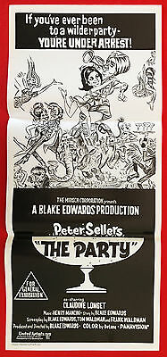 THE PARTY - Original 1980's re release cinema daybill movie poster Peter Sellers