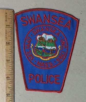 Obsolete Vintage Swansea Sew on Cheese Cloth Police Patch