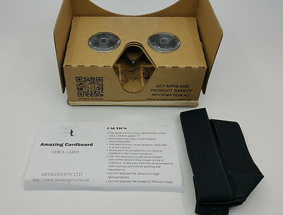 2018 Latest Amazing Cardboard V3 / Google Cardboard V2.2, Carton Color