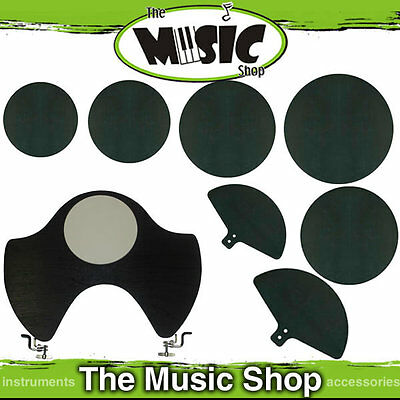 8 Piece Drum Mute Silencer Set for Fusion Size Drumkits - Drum Kit Mutes - Pads