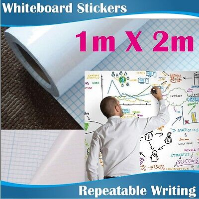 1x2M Large Removeable Soft Whiteboard Whiteboards Stickers Express Delivery