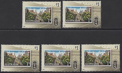 "AUSTRALIA 2006 50th ANNIV OLYMPIC GAMES  $1 ""COLLINGS STREET"" X (5) STAMPS MNH"
