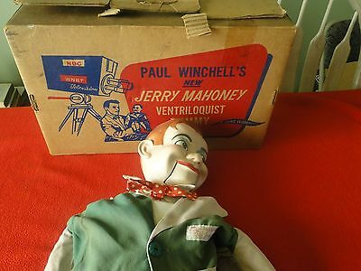 Vintage Paul Winchell's Jerry Mahoney Ventriloquist Dummy by Juro w Box