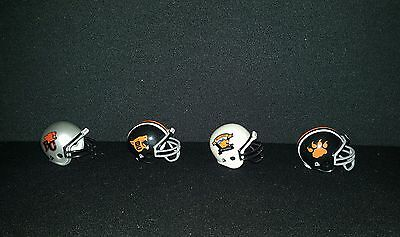 Bc Lions Cfl Riddell Pocket Size Team Helmet Set Very Rare