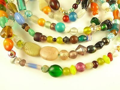 2 mixed strands Czech Indian glass beads component tribal African trade AB-0026