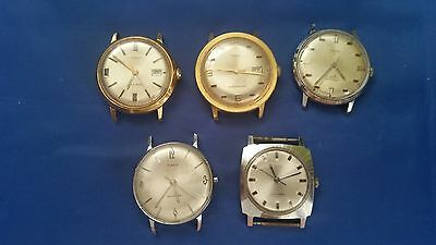 LOT OF 5 TIMEX USED WRISTWATCHES for parts.