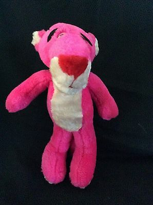 "Pink Panther Beige/Pink 11"" Plush Stuffed Animal"