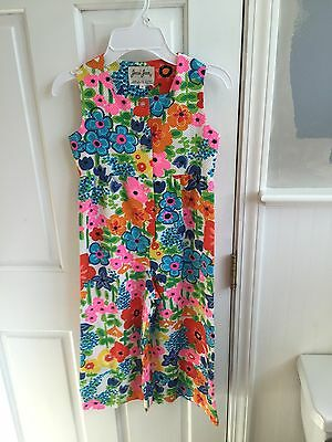 Vintage Sweet Jumpsuit Retro Floral Mint Bell Wide Leg Size 5 Editorial Cool