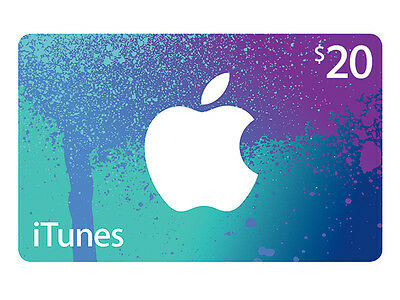 Official $20 iTunes Gift Card for Australian Store *NEW*+Warranty!!