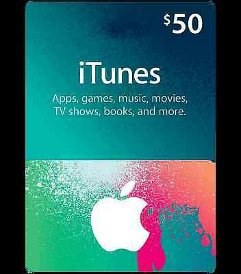 Official $50 iTunes Gift Card for Australian Store *NEW*+Warranty!!