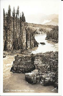Vintage RPPC Cabinet Gorge in Northern Idaho Unposted