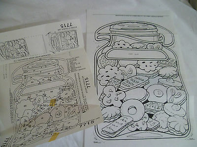 Vintage Hobbytex Design to Paint Cookie Jar 7715 Guide Wall Hanging As New
