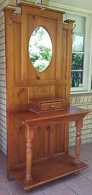 Wooden Antique Hall Stand