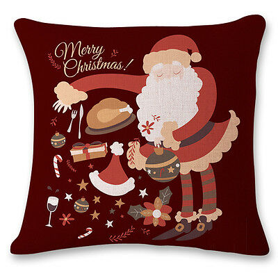 Vintage Christmas Sofa Bed Home Decor Pillow Case Cushion Cover 1