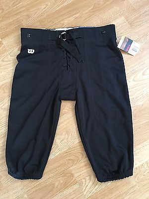 NEW Wilson Youth Kids XL Black Performance Football Pants Non-padded