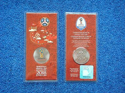 Russia, 25 rubles, 2016, 2018 FIFA World Cup, Football, UNC, New, colored