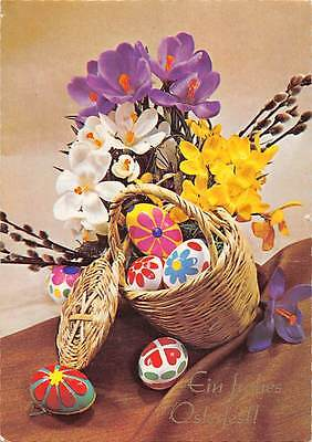 Easter, Ein frohes Osterfest!, eggs, basket, flowers