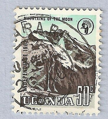 1962 Uganda Independence Mountains Of The Moon 50 Cents