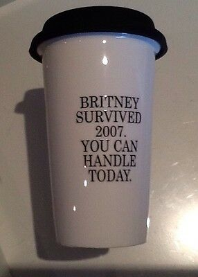 ceramic drink holder!! britney spears theme!! urban outfitters!!!