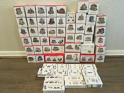 Lot of 60 Vintage Liberty Falls Collections Houses Buildings & Accessories