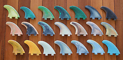 Surfboard Fins - Marlin 4.5'' thruster set - each set a one unique colouration