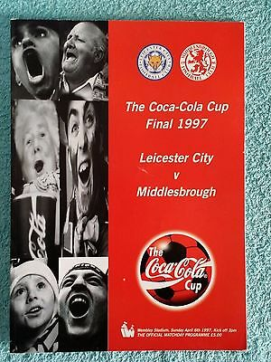 1997 - LEAGUE CUP FINAL PROGRAMME - LEICESTER CITY v MIDDLESBROUGH