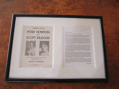 Peter Howson Exhibition Publicity Signed and Dated