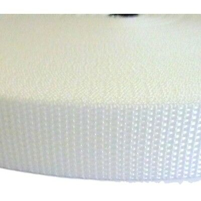 """WHITE Value Polypropylene Webbing 25 mm  1""""  Wide for Leads  Straps 1 to 100 Mtr"""