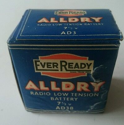 EVER READY VINTAGE RADIO BATTERY - 1950s AD38