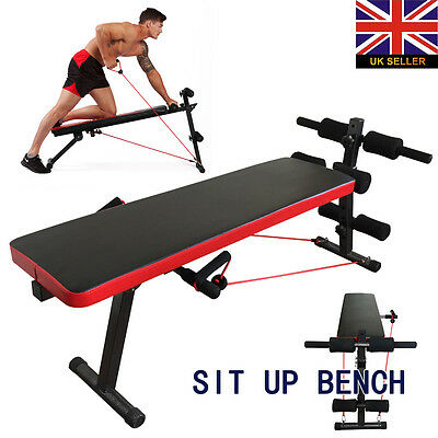 AB Abdominal Sit Up Bench Flat Workout Exercise Training Home Gym Board New