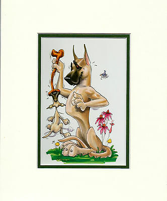 Mini Print Great Dane Fawn by Mike McCartney