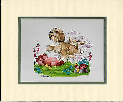 Mini Print Lhasa Apso by Mike McCartney