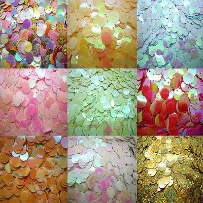 NEW DIY 10mm 120pc Shiny Round Loose Sequins Paillettes Sewing Wedding Many Pick