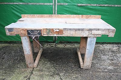 Woodworking Bench - Record No.52 1/2 Vice - Wooden Frame