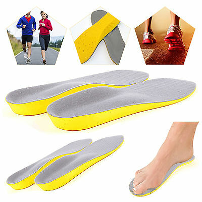 Orthopaedic Orthotic Memory Foam Unisex Sport Shoe Insoles Feet Foot Shock Pads