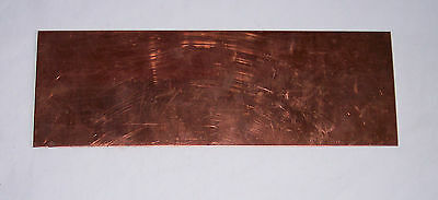 Gauge O – Metal – Copper sheet - 16 SWG (1.5mm) - 300x100mm - see notes / pics A