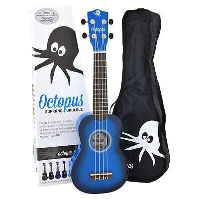 Octopus Soprano Dark Blue Burst Ukulele