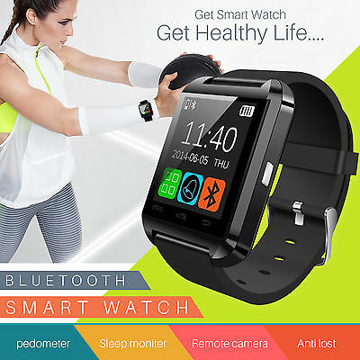 Bluetooth Smart Wrist Watch Phone Mate For Android& iOS iPhone Samsung HTC UK