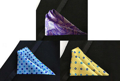 POCHETTE FAZZOLETTO TASCHINO UOMO MEN FANTASIA Pocket Square handkerchief
