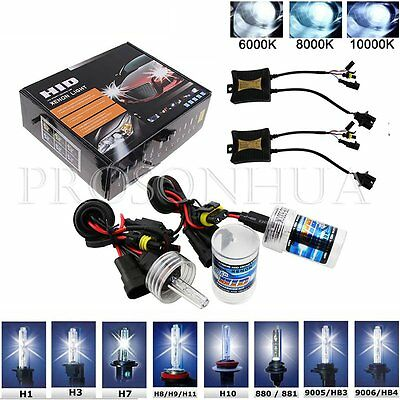 Pair HID Xenon 55W Headlight Conversion KIT H1/H3/H4/H7/H11/H13/9005/9006/9004/7