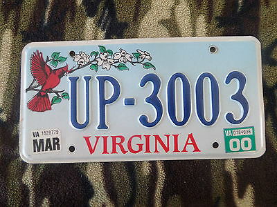 virginia bird  license plate cardinal