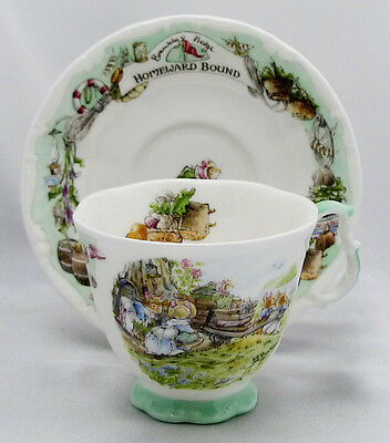 Royal Doulton Brambly Hedge  Homeward Bound Teacup & Saucer Very Good Condition